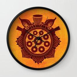 Handpan Festival Pantam Mandala Music Wall Clock