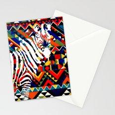 Tribal Zebra Stationery Cards