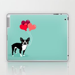 Boston Terrier Valentine heart balloons for pet owners and dog lovers gift for someone they love Laptop & iPad Skin