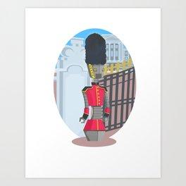 Queen's Beep Boop Guard Art Print