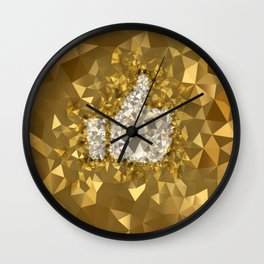 POLYNOID Like / Gold Edition Wall Clock