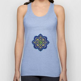 Samarkand blue and yellow ornament Unisex Tank Top
