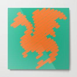 Stripey Dragon Metal Print