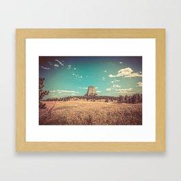 Devil's Tower National Monument Wyoming Framed Art Print
