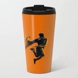 Basketball  Metal Travel Mug