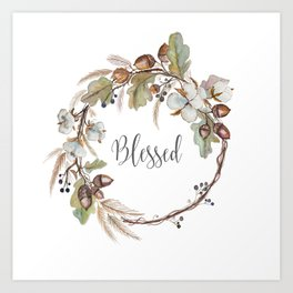 Blessed pillow Art Print