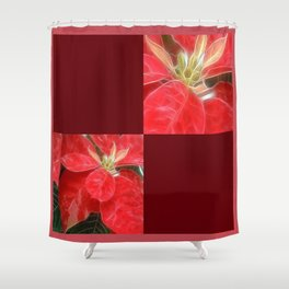 Mottled Red Poinsettia 1 Ephemeral Blank Q10F0 Shower Curtain