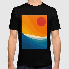 Abstract landscape art T-shirt