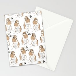 Grooming hare pattern Stationery Cards