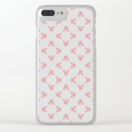 Antique Flypaper Pattern Print Clear iPhone Case