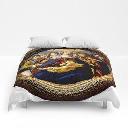 """Sandro Botticelli """"Madonna of the Pomegranate (Madonna della Melagrana)"""" Comforters"""