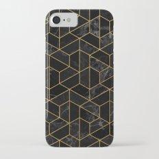 Black Marble Hexagonal Pattern Slim Case iPhone 7