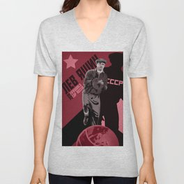 Lev Yashin - the greatest goalkeeper in the history of the game Unisex V-Neck
