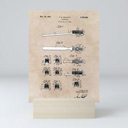 patent art Wolcott Toothbrush 1938 Mini Art Print