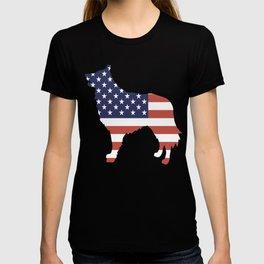 Belgian-Sheepdog-tshirt,-patriotic-Belgian-Sheepdog T-shirt
