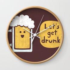 Drinking Buddy Wall Clock