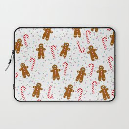 Gingerbread man wishes you Merry Xmas! - White Laptop Sleeve