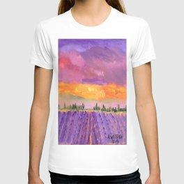 Lavender Field, Lavender Sky T-shirt