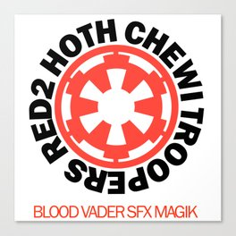 Red2 Hoth Chewi Troopers Canvas Print
