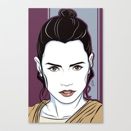 Star Fighter Female Canvas Print