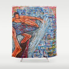 Getting Cubed Shower Curtain