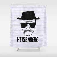 heisenberg Shower Curtains featuring HeisenBerg by IIIIHiveIIII