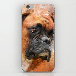 Boxer Dog Thinking iPhone Skin