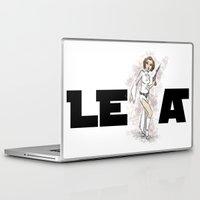leia Laptop & iPad Skins featuring PRINCESS LEIA by carotoki