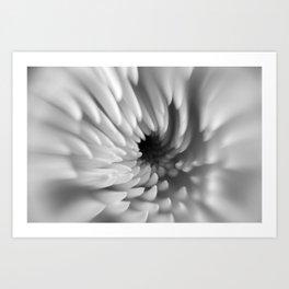 Monochrome Mum Crystal Ball | Abstract Macro Photography Art Print