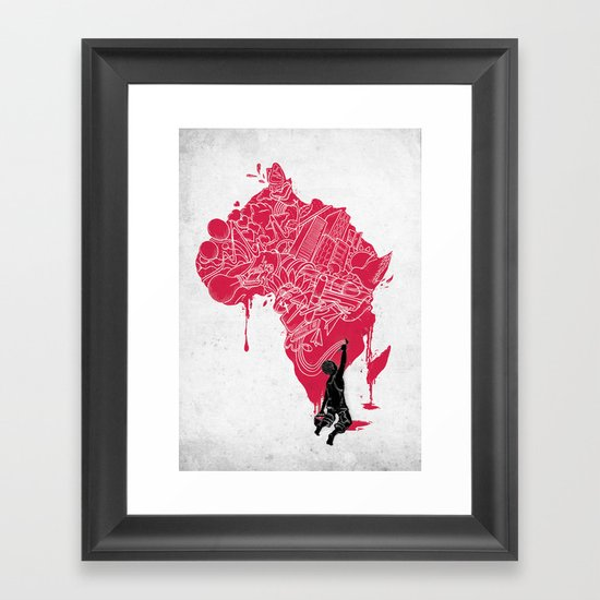 RE | Draw AFRIKA Framed Art Print