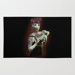 Zombie Pinup Rug