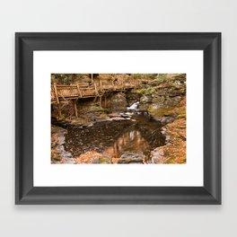 Swirling Bushkill Fall Stream Framed Art Print