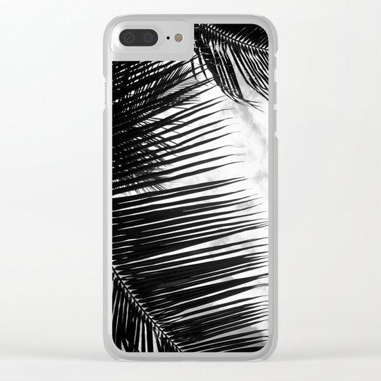 maui paradise palms hawaii monochrome Clear iPhone Case