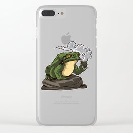Vaping Toad | Vape Vaper Frog Animal Chill Relax Clear iPhone Case