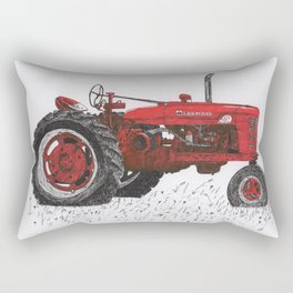 Farmall Super M, International Harvester Tractor Drawing Rectangular Pillow