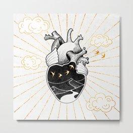 Desert Heart Inktober :: More Magick Metal Print