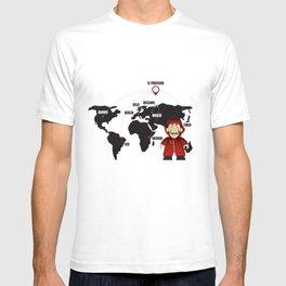 La casa de Papel Money Heist Map T-shirt