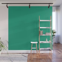 Emerald Green Color Wall Mural