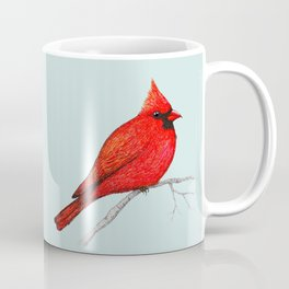 Northern cardinal pen drawing Coffee Mug