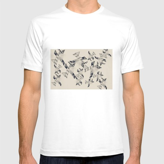 B&W Aztec pattern illustration T-shirt