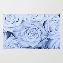 Some people grumble - Blue Rose, Floral Roses Flower Flowers Rug