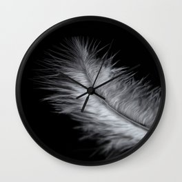 feather in white Wall Clock