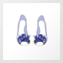 Hydrangea Shoes Art Print