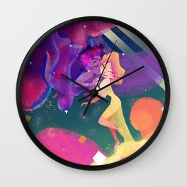 Space Lovers Wall Clock
