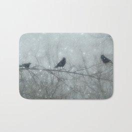 Wintry Crows Bath Mat