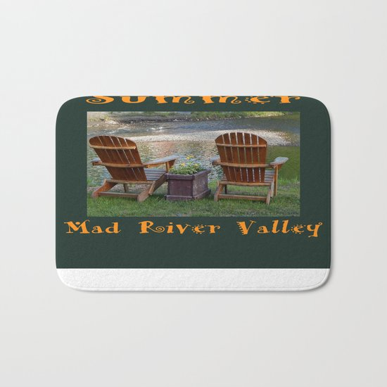 Summer By the River in the Mad River Valley, Vermont Bath Mat
