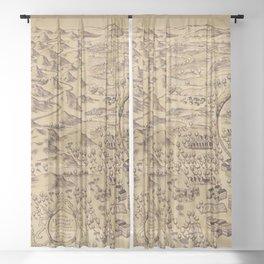 Magic Map Sheer Curtain