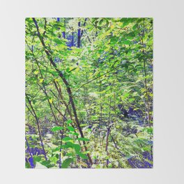 Deep Undergrowth Throw Blanket