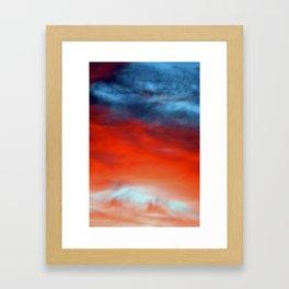 Dantes sunset Framed Art Print