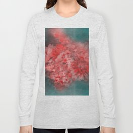 Abstract Red Flowers Long Sleeve T-shirt